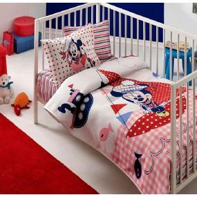 lenjerie de pat pentru bebelusi din bumbac Tac Minnie Sailbaby - Paladin Store
