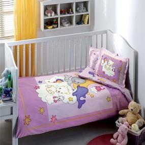 lenjerie de pat pentru bebelusi din bumbac organic Tac Animals - Paladin Store