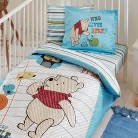 lenjerie de pat pentru bebelusi din bumbac ranforce WINNIE NEW FRIEND BABY - Paladin Store