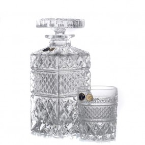 Set pahare si sticla whisky din cristal Bohemia - Madison 2