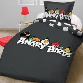 Lenjerie de pat copii bumbac ANGRY BIRDS - HANG AROUND