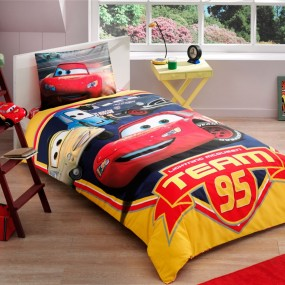 Lenjerie de pat copii TAC Disney - CARS TEAM 95