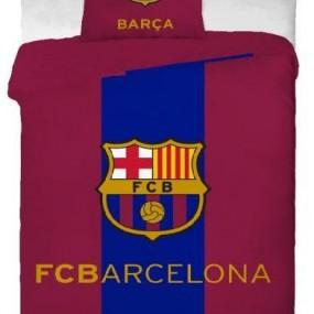 Lenjerie de pat copii bumbac FC BARCELONA Logo