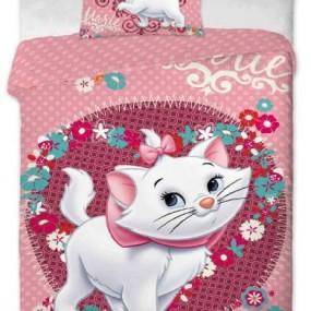 Lenjerie de pat copii bumbac MARIE CAT PINKIE