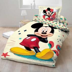 Lenjerie de pat copii bumbac MICKEY MOUSE 2012