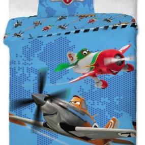 Lenjerie de pat copii bumbac PLANES 2014