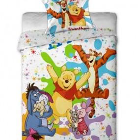 Lenjerie de pat copii bumbac WINNIE THE POOH-COLORS