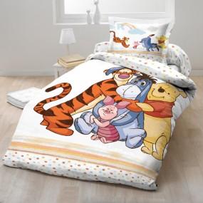 Lenjerie de pat copii bumbac WINNIE THE POOH DOTS