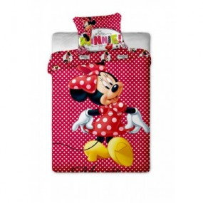 Lenjerie pat copii bumbac MINNIE SHOPPING